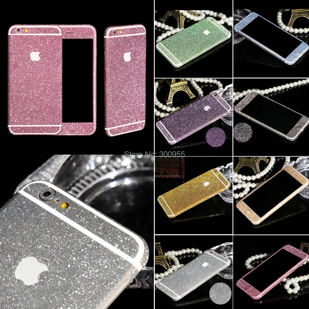 Free shipping Full Body Bling Screen Protector Phone Sticker For iPhone 6 Plus WHD1259(China (Mainland))