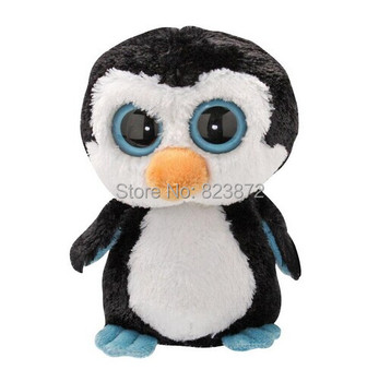 TY Beanie Boos Waddles Penguin Stuffed Plush Animals 15CM/25CM Cute Ty Big Eyes Soft Toys for Children Brinquedos Kids Gifts
