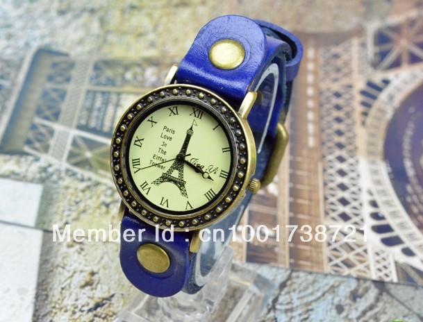 Fashion Women Elegant Lady Quartz Leather Strap Diamond Face Hot Sale Vogue High Quality Watche