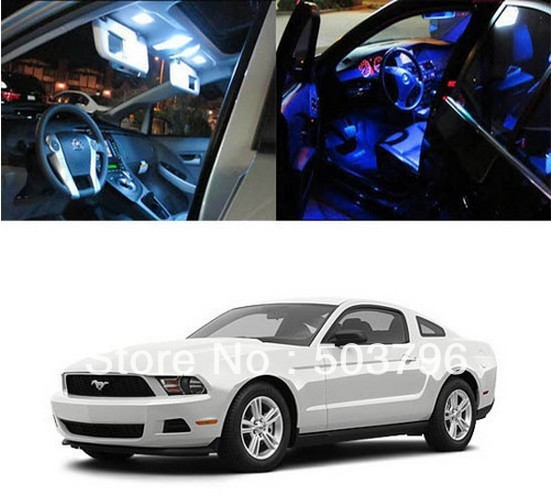 Free shipping 4 x 5050 SMD Light LED Full Interior Lights Package Deal For 2010 and up Ford Mustang