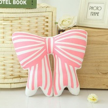 Free Shipping 2016 New Arrival LovelyBowknot Butterfly Knot Cushion Pillow Toys Stuffed Plush Dolls Gifts For Kids Children