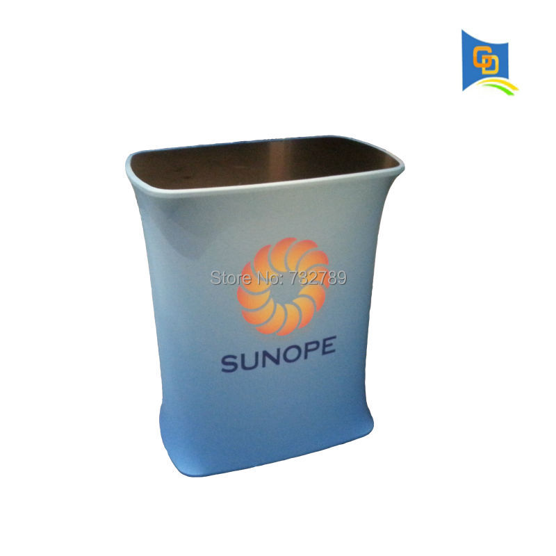 Square shape Portable Counter table,tension fabric display banner stand,promotionale table for exhibition booth or trade show(China (Mainland))