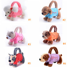 Gloveleya Plush Cartoon Dogs for Kids Coin Holder 3D Poodle Toys Schnauzer Toys for Children Girls Best New Year Gifts 20*13 cm(China (Mainland))