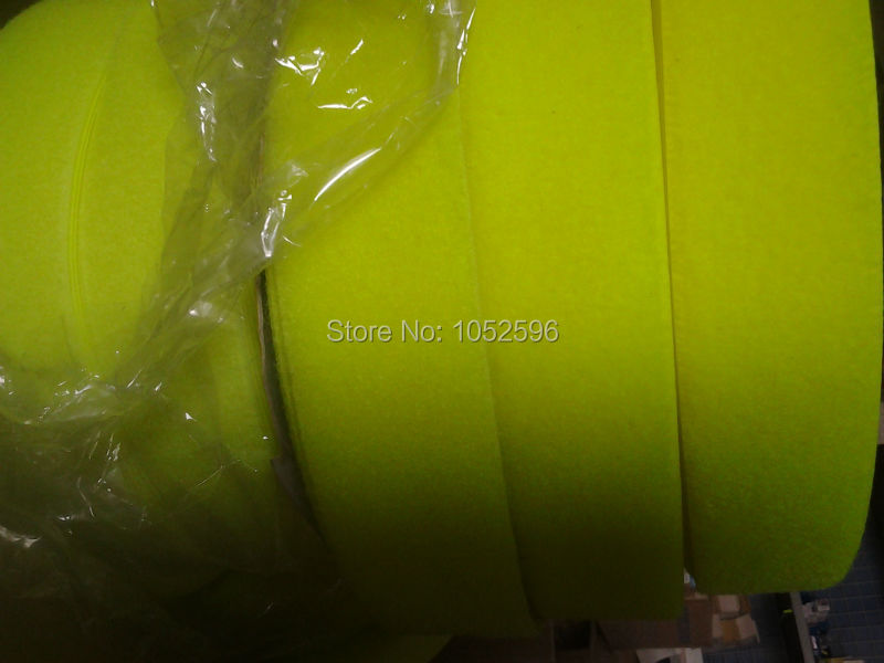 5cm *24m  for one roll  : Fluorescent yellow  Wool side Velcro Tapes
