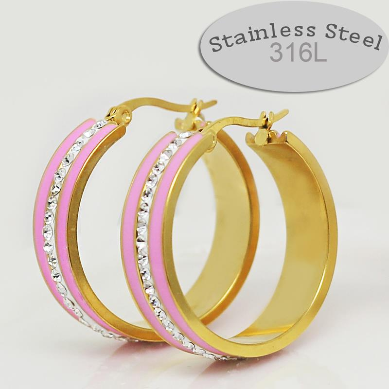 enamel colorful 2 years guarantee real yellow gold plated
