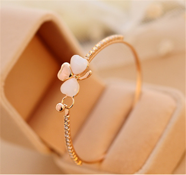 Austrian Crystal Jewelry Chic Bracelet Women Party /Wedding Silver/Gold Plated Little Flower Earring 2015 New Arrivel RS003 - sanson feng's store