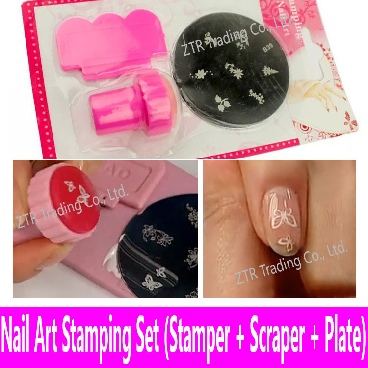 Wholesale- Stamping Template Nail Art Tools Stamping Plate Stamper ...