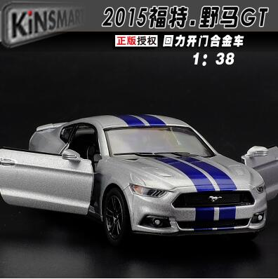 New Ford Mustang GT 2015 1:38 car model Need for Speed Fast & Furious kids toy pull back alloy sports car supercar gift(China (Mainland))