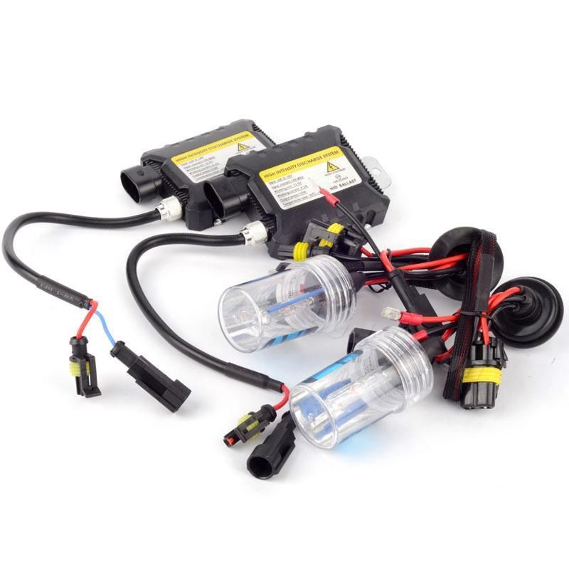 55W XENON HID KIT SLIM BALLAST H1 H3 H7 H8/9/11 9003/HB2  9005 9006 Bulbs ALL COLORS 4300K 6000K 8000K 10000K 12000K 30000K(China (Mainland))