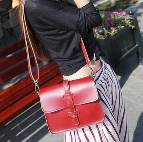 0812 bags cat bag 2014 strap decoration vintage one shoulder bag handbag brown red<br><br>Aliexpress