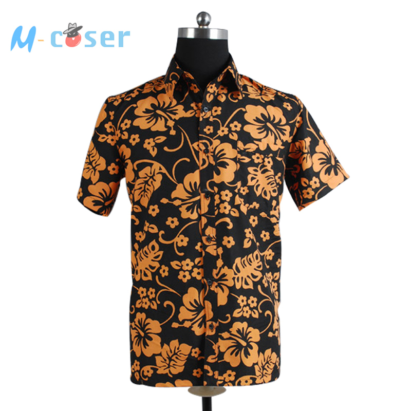 Fear and Loathing in Las Vegas Raoul Duke Short Sleeves Shirts Halloween Party Cosplay Costume(China (Mainland))