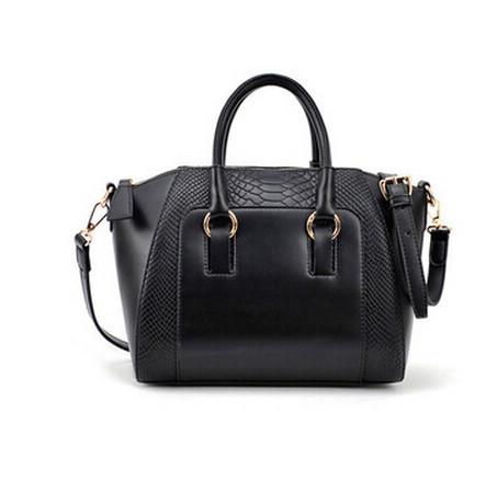 2015 New women handbag fashion brief crocodile pattern shoulder bags women messenger bags women leather handbags(China (Mainland))