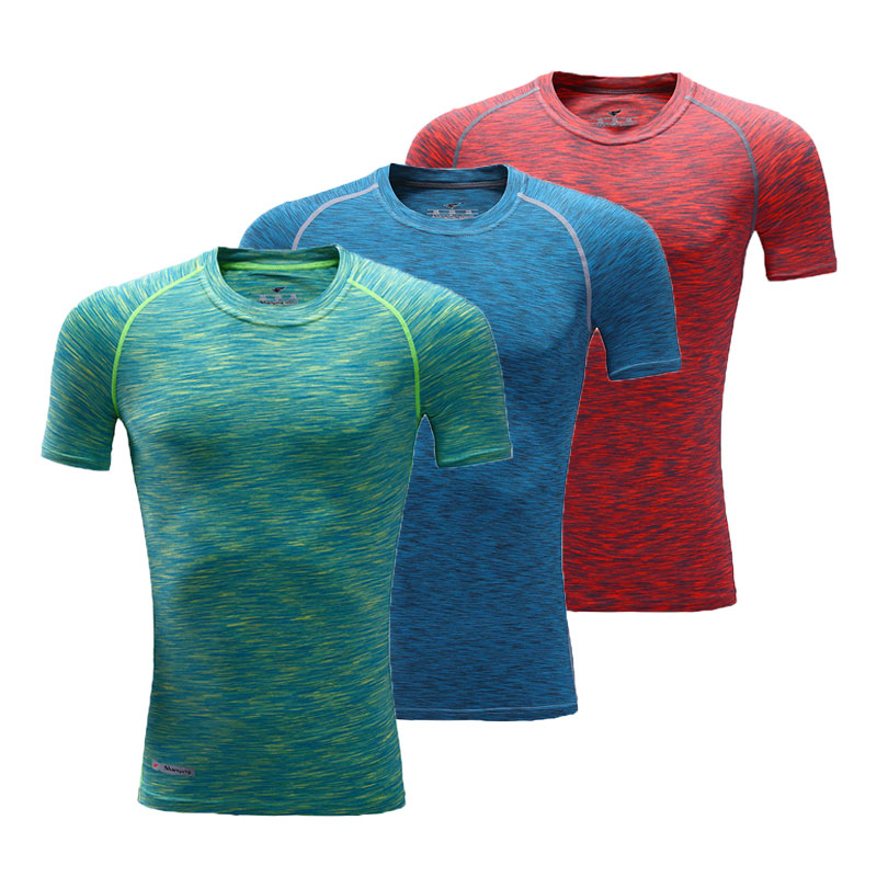 Men Compression Shirt Base Layer Gear Tights Bodybuilding Fitness Gym Clothing Basketball&Football Training Shirt Quick-dry Tops(China (Mainland))