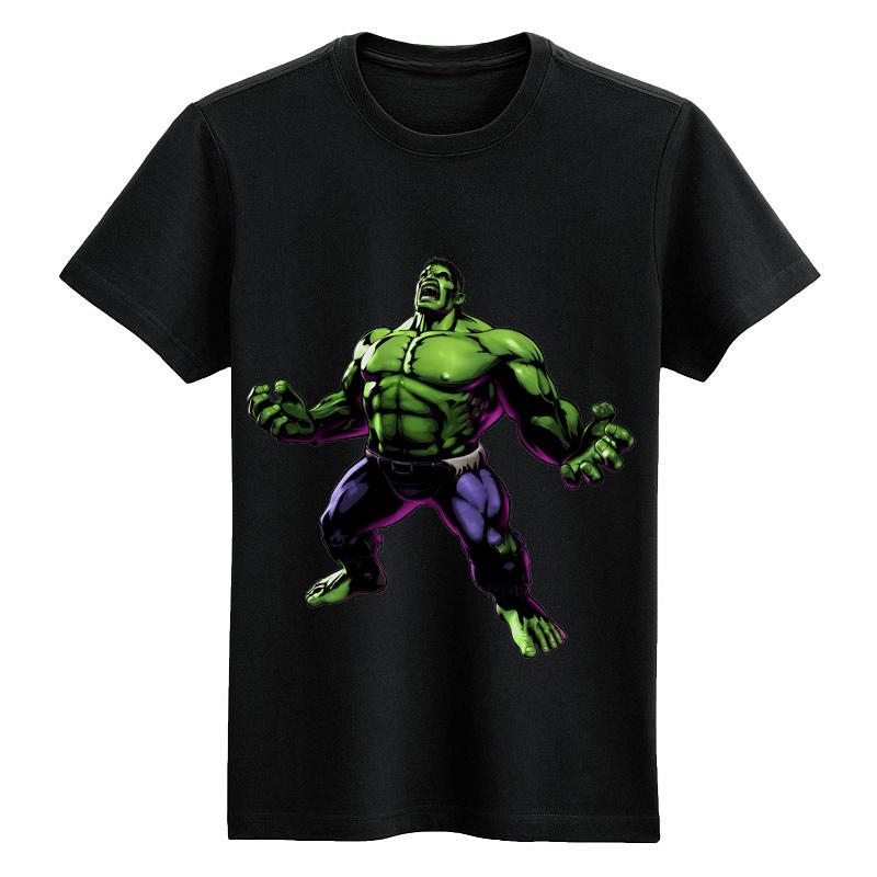Angry hulk black shirt cartoon vintage cotton Tee(China (Mainland))
