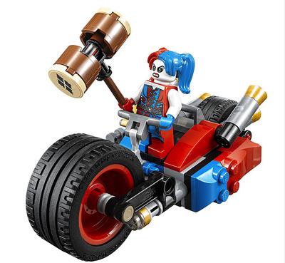 Super Hero  Mighty Micros Deadshot Harley Queen Batman with motorcycle Blocks Toys compatible with Legoe