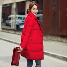 Red women winter white duck down jacket coat female long sections down jacket women duck down parka warm clothing TT212