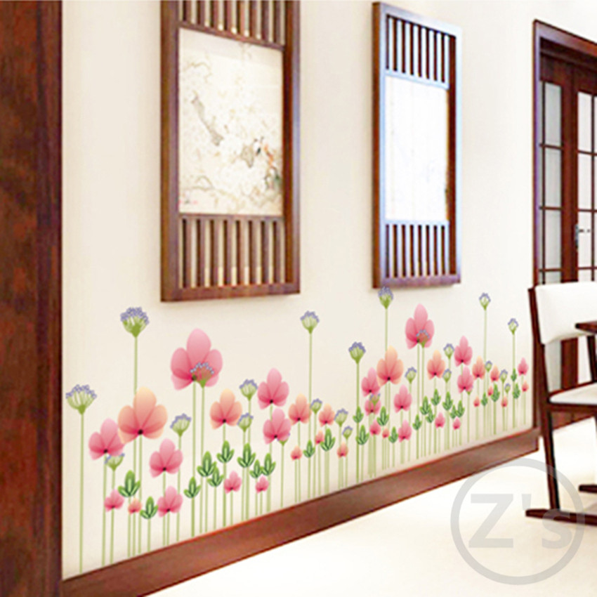 fence railing butterfly with flower garden decor skirting corner wall sticker home decor AY7205(China (Mainland))