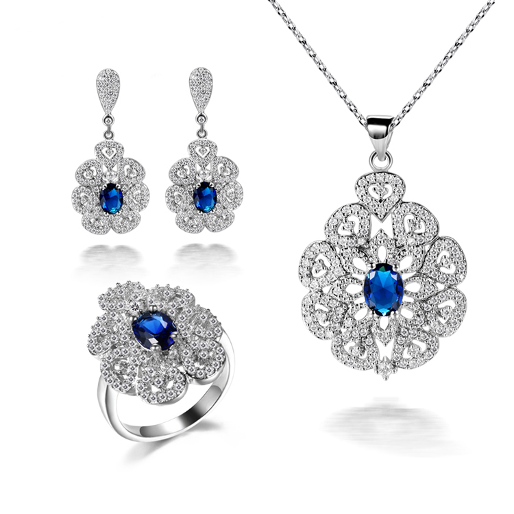 LE-0003,Fashion jewelry sets rings, earrings, necklaces Jewelry Sets<br>