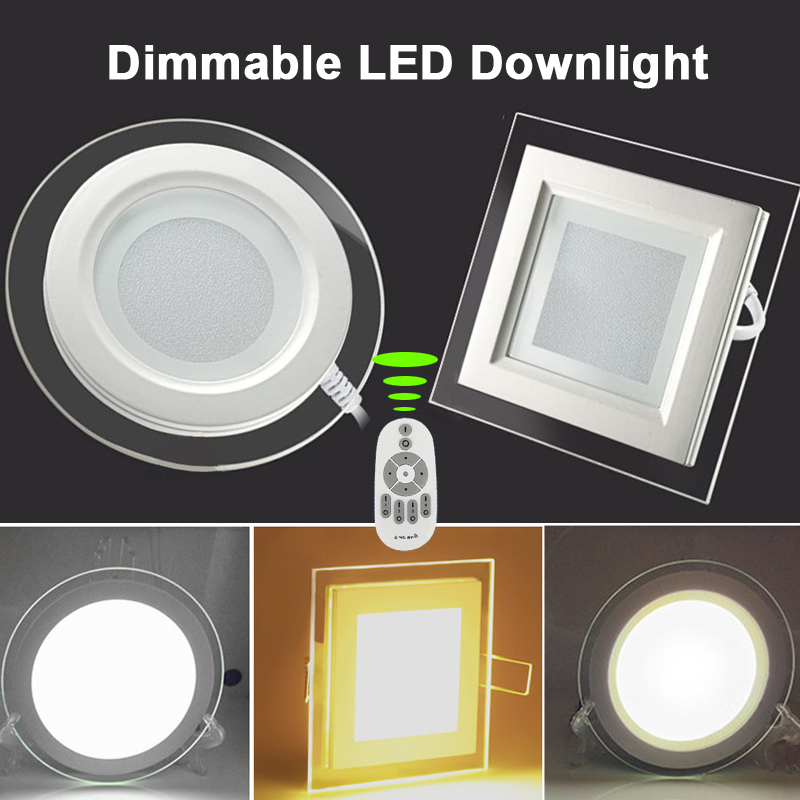 Top quality high lumen aluminum+Glass Dimmable LED downlight, Remote control dimming LED lamp(China (Mainland))