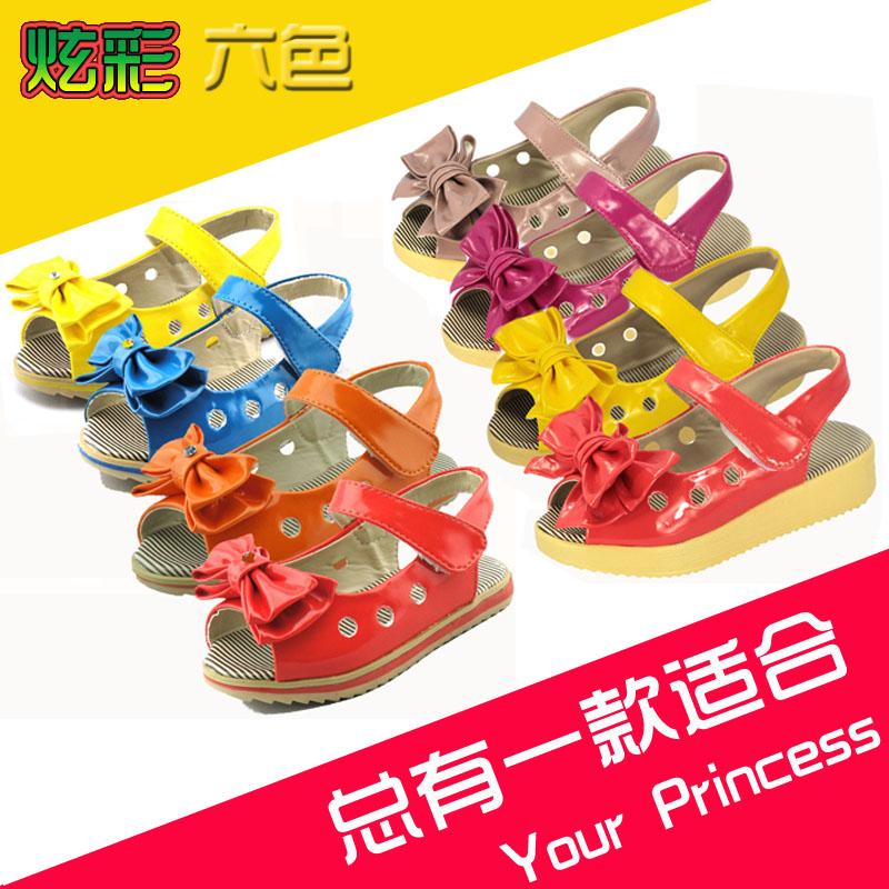 Сандалии дети обувь девочки обувь лето девочки сандалии принцесса обувь с бант