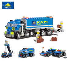 Christmas gift Enlighten Child educational toys Dumper Truck DIY toys building block sets Compatible with lego Children toys(China (Mainland))