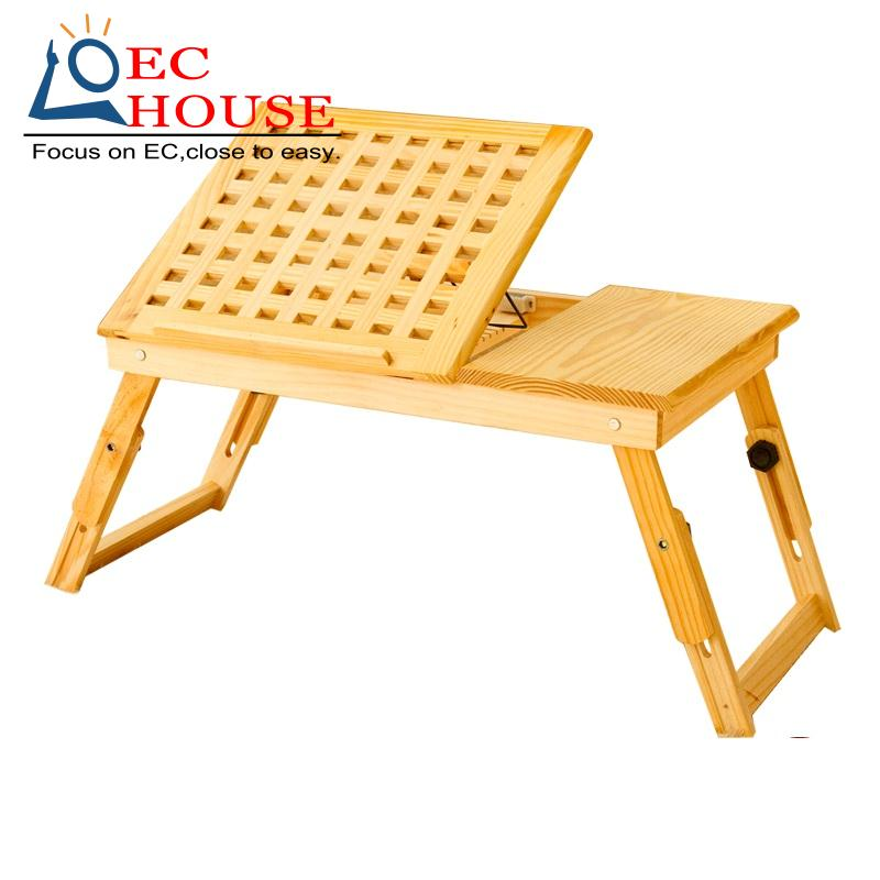 new solid wood bed desk notebook comter folding table height adjustable durable lazy FREE SHIPPING(China (Mainland))