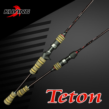 KUYING Teton 1.98m L Casting Spinning Lure Carbon 2 Sections Fishing Rod Pole With FUJI Ring Medium Fast Action Free Shipping(China (Mainland))