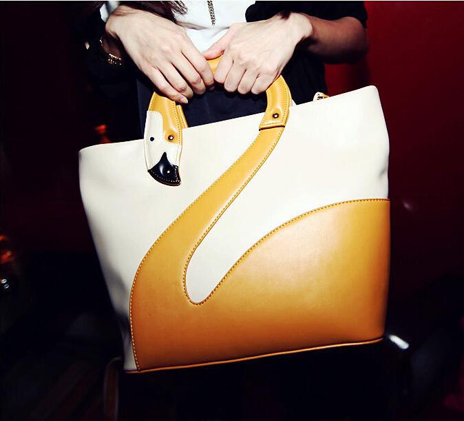 LADY Swan Women Handbag Fashion Women Tote Korea Style Brief  Female