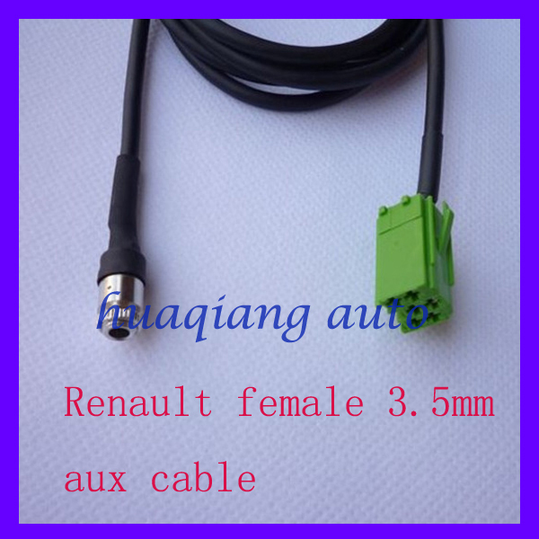 Renault Clio Megane Car Audio Parts Aux Cable Audio Adapter Female 3.5mm(China (Mainland))