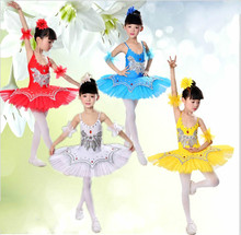 Buy Girl Ballet Dance Costume Children Swan Lake Dance Clothing Sequins Ballet Dance Dress Multicolor Professional Dancer Outfit 89 for $28.39 in AliExpress store