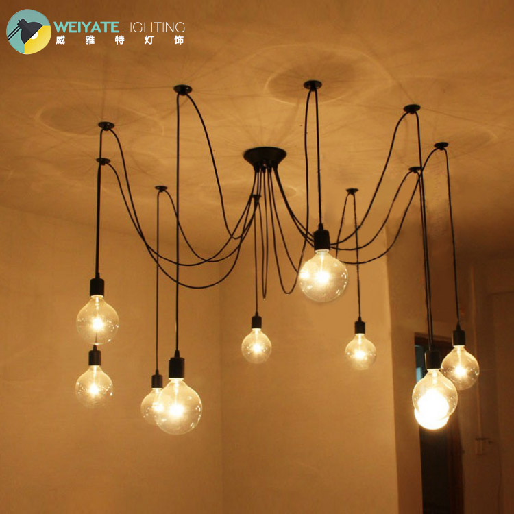 Loft industrial retro cafe bar lamp hanging lamp office long The heavenly maids scatter blossoms. spider<br><br>Aliexpress