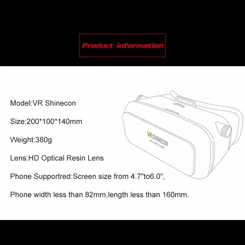 - HTB1Eb3kOpXXXXatXVXXq6xXFXXXL - VR Box Shinecon 1 VRBOX Casque Video 3D Gerceklik Google Cardboard Virtual Reality Goggles 3D Glasses Headset Smartphone Helmet