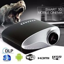 Película HD 1080 P AV HDMI Inicio Cine Teatro Multimedia LED Proyector Negro UE proyector hdmi usb proyector