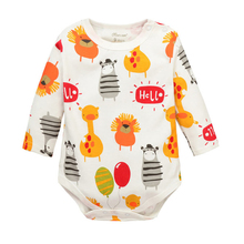 Cartoon Giraffe Zebra Long Sleeve Baby bodysuits Baby Girl One Pieces Cute Clothes Jumpsuits kids clothes Baby Clothing CBZBF132(China (Mainland))