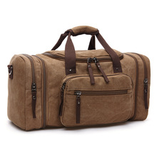 Vintage canvas men travel bags women weekend carry on luggage & bags sport leisure duffle bag large capacity tote business bolso(China (Mainland))