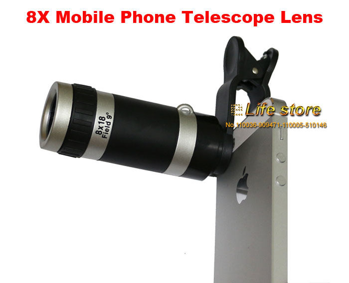Universal Mobile Phone Telescope Lens Phone Clip Lens 8X Zoom Len For vivo Xplay5 Elite,vivo Xplay5(China (Mainland))