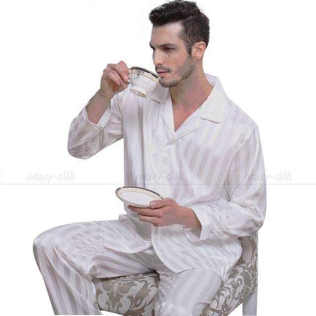 Мужские шелковый атлас пижамы комплект пижамы PJS пижамы установить Loungewear s, ML ...