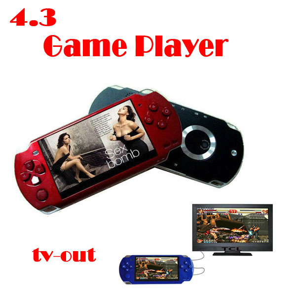 by dhl or ems 50 pieces 4GB 4.3 Inch PMP Handheld Game Player MP3 MP4 MP5 Player Video FM Camera Portable Game Console tv out(China (Mainland))