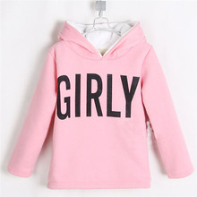2015 winter news style baby girls hooded long sweatshirts little girls plus thickened coats girls warm clothing A2216(China (Mainland))