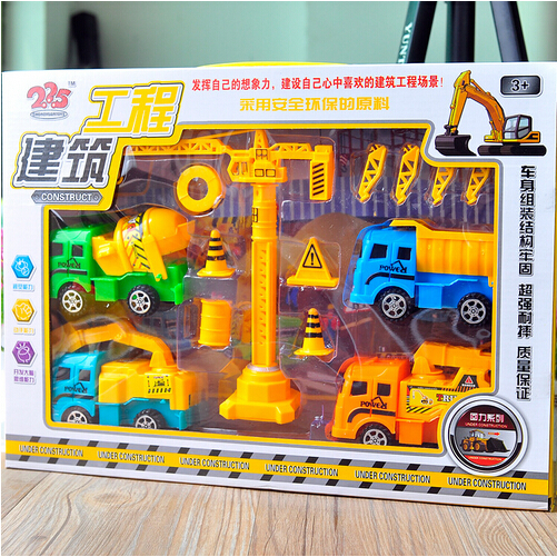 Large transport truck model children's toy car scene DIY Toys Gift Packs Kids Toys(China (Mainland))