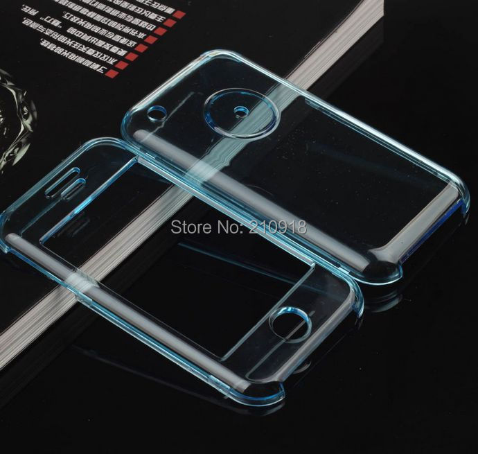 MOQ 1Pc pink/sky blue/clear Pc Hard Cover Case for iPhone 3G 3GS,(China (Mainland))