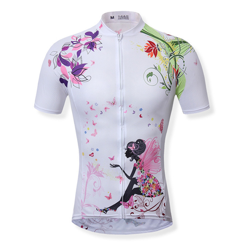 New Outdoor Shirts ciclismo Jackets Breathable Womens Short Sleeve Cycling Comfort Jersey Pink fairy<br><br>Aliexpress