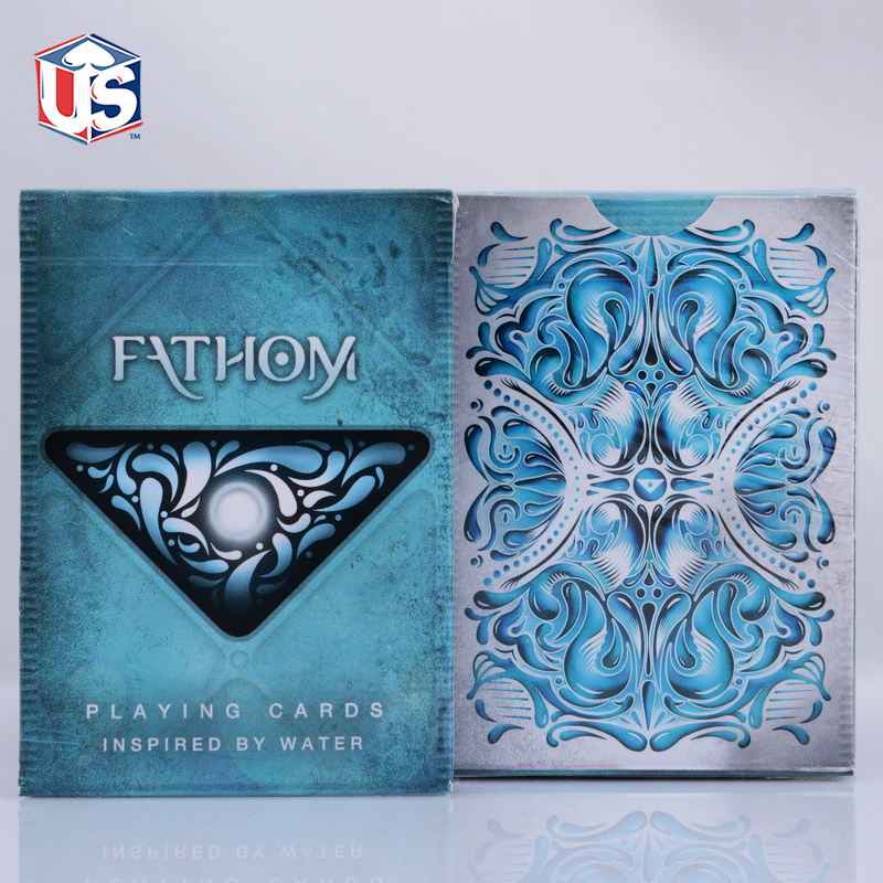 1 DECK Fathom Premium Ellusionist Deck Bicycle Playing Cards Magic Tricks New USPCC Magic Card(China (Mainland))