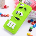 3D M M Chocolate For Coque iPhone 5 5s Case Silicone Cute Cartoon Funda For Capa