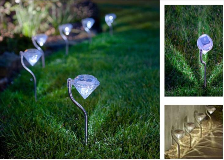 4pcs/lot Waterproof Outdoor Solar Power Lawn Lamps LED Spot Light Garden Path Stainles Steel Solar Landscape Garden Lighting