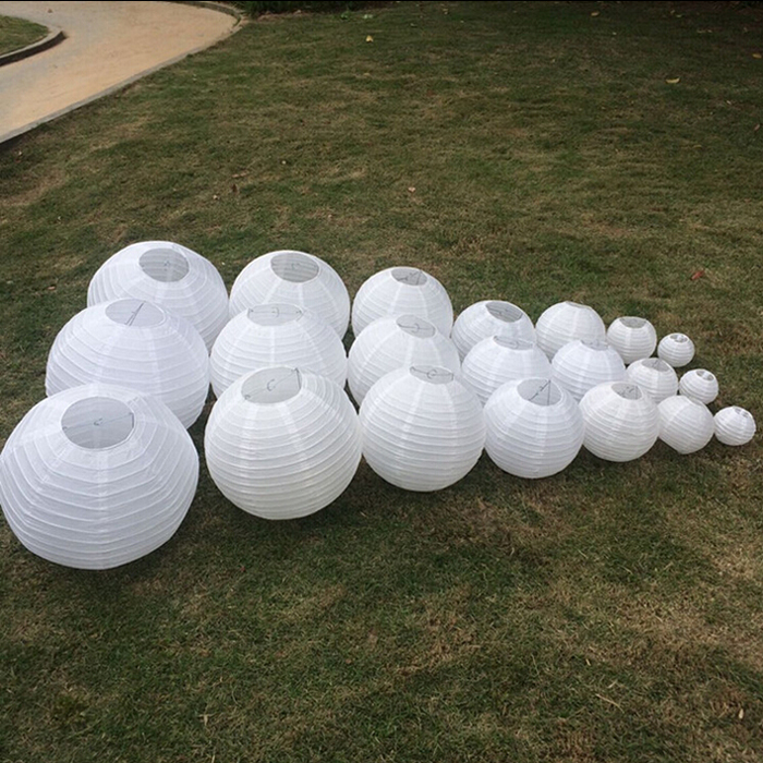 10pcs lot 12 inch 30 cm white paper lanterns for wedding