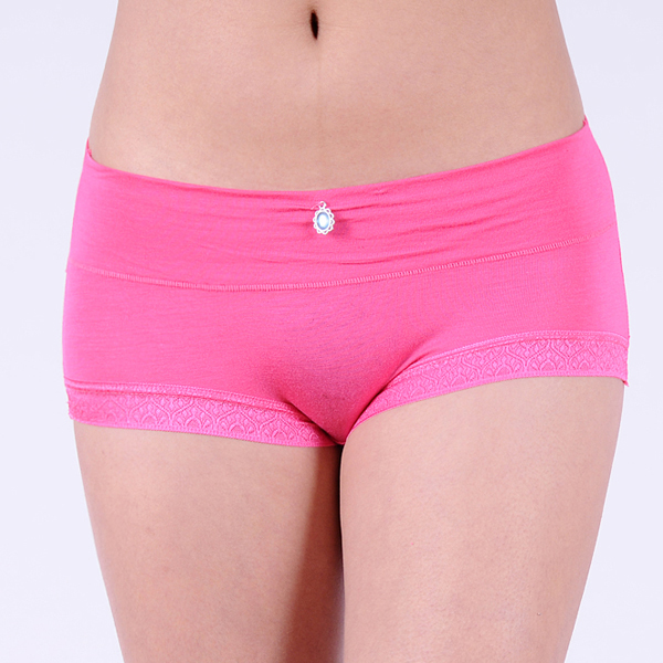 Lof of 60pc Lace Trim Bamboo Girl brief Plain Young lady underwear young lady underpant stretch lady panties lingerie intimat(China (Mainland))