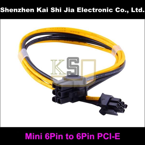 High Quality Mini 6-Pin PCI-E to Standard PCI-E 6-Pin PCI Express Power Cable for Mac-Pro G5 Video Card(China (Mainland))