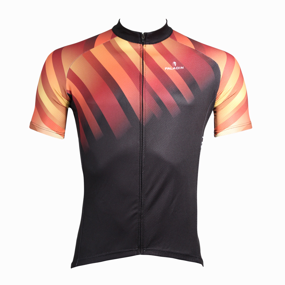 Paladin Cycling Clothing 2015 with Short Sleeve Pro Cycling Jersey Orange Light Breathable Bike Jersey(China (Mainland))