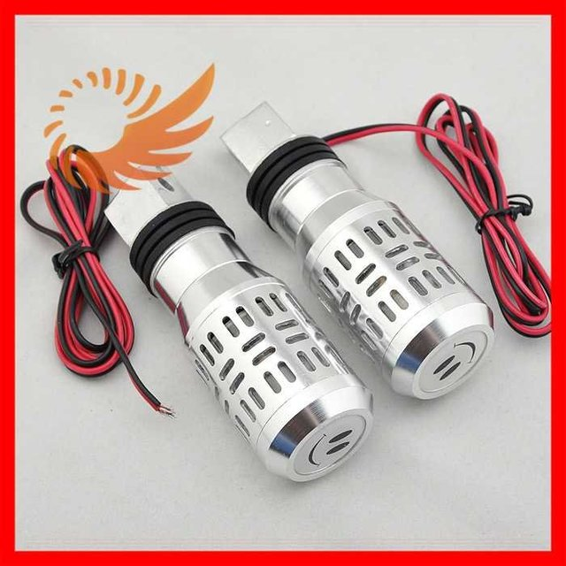 Wholesale free shipping 2 x Motorcycle Bar Ends Barends Flash Light Hand Grips light [P57]